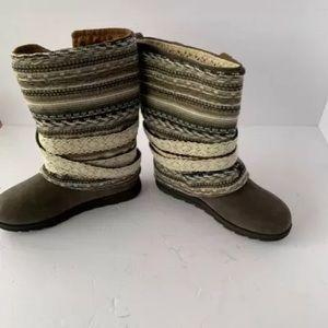 Muk Luks Shoes - muk luks boots Nikki Blanket Gray Size 8